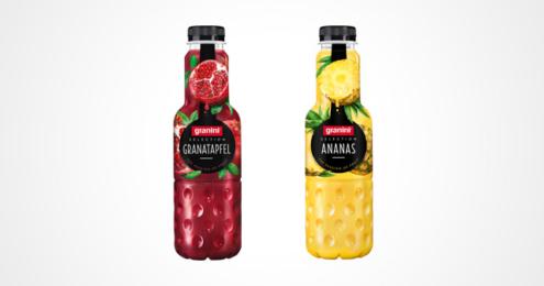 Flaschen Granini selection Granatapfel und Ananas