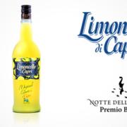 Limoncello Di Capri Flasche und Glas