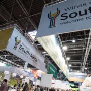Messestand Südafrika Wein