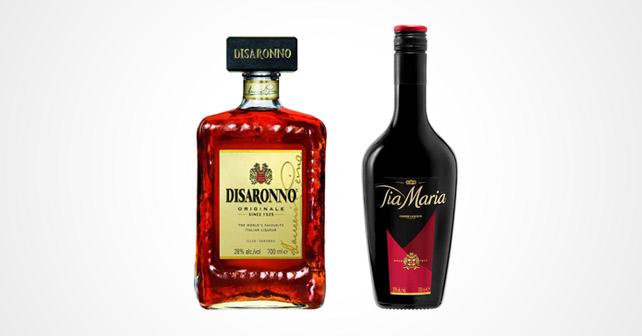 Flaschen DISARONNO und TIA MARIA