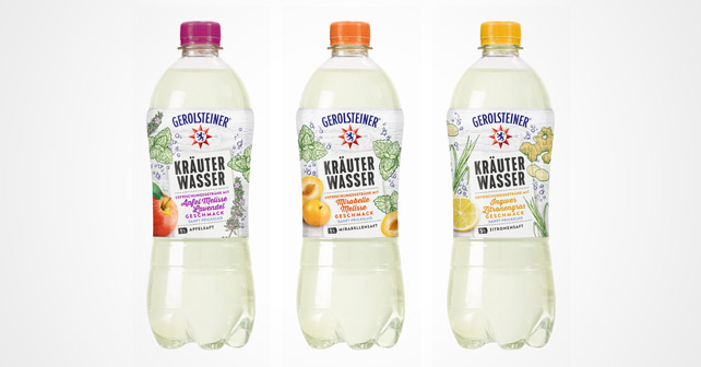 Die drei Sorten des Gerolsteiner Kräuterwassers