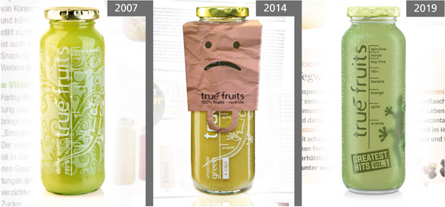 true fruits Gekko-Smoothie 2007-2019