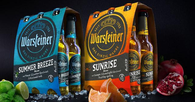 Warsteiner Summer Breeze und Sunrise Sixpacks