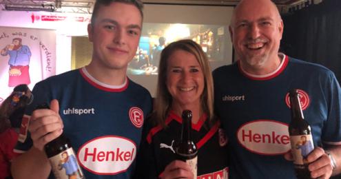 Fans feiern Fortuna mit Pitters