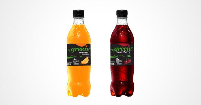 Green cola Limonaden kirsche und orange