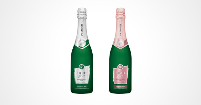 LIGHT live Chardonnay Dry und LIGHT live Merlot Rosé Dry