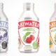 Skiwater Himbeere, Mango-Marille sowie Mountain Tonic Flasche