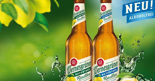 Wernesgruener Radler alkoholfrei Flaschen