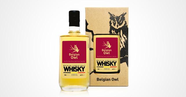 Belgian Owl Whisky Flasche Verpackung