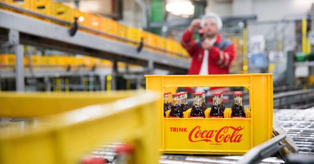 Coca-Cola Glas-Mehrweganlage