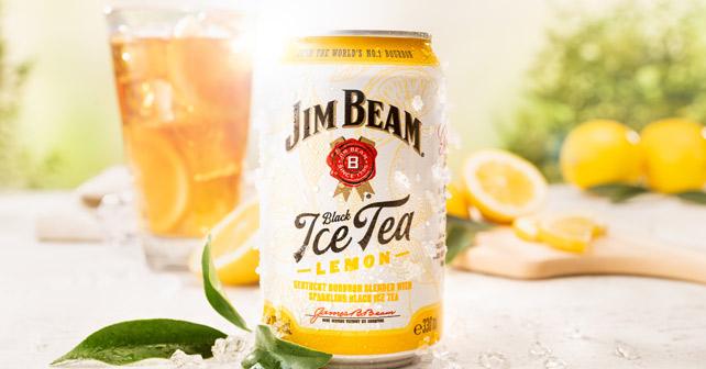 Jim Beam Black Ice Tea Lemon Dose
