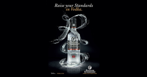 Russian Standard Vodka Raise your Standards in Vodka Plakat