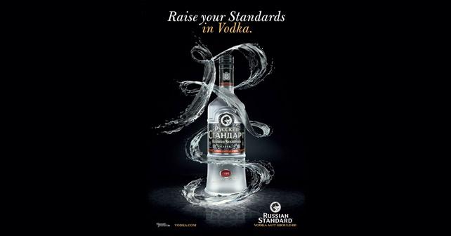 Russian Standard Vodka Raise your Standards in Vodka Plakat