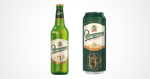 STAROPRAMEN 150 Jahre Flasche und Dose