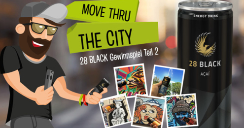 28 BLack move thru the city Plakat