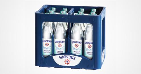 Gerolsteiner Glasflaschen Kiste