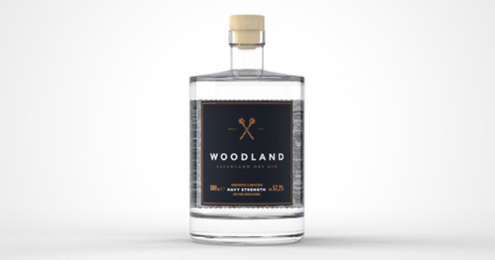 Woodland Navy Strength Flasche