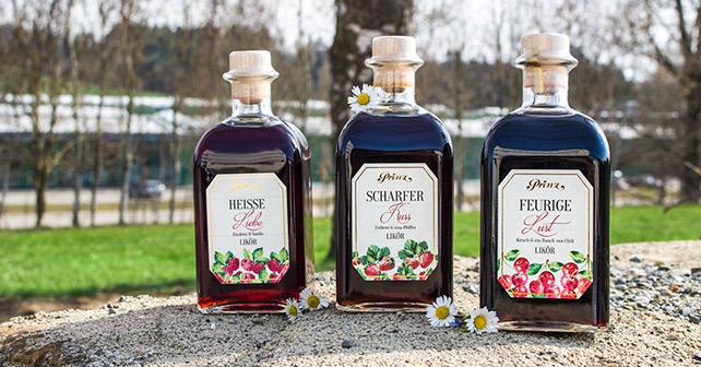 Prinz Sommerliköre Flaschen