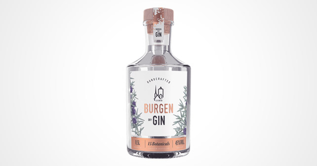 Burgen Dry Gin Design