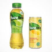Fuze Tea scharzer tee und Gruene Limette