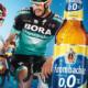 Radfahrer mit Krombacher alkohholfrei