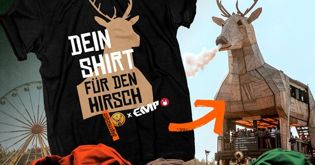 dein tshirt für den Hirsch