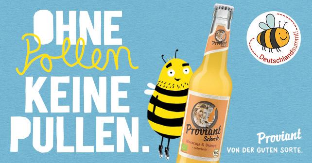 Ohne Pollen keine Pullen – Proviant Berlin für den Erhalt der Wildbienen - about-drinks.com