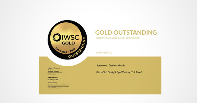 Rye Whisky Gold Outstanding