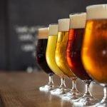 Biersorten im Glas