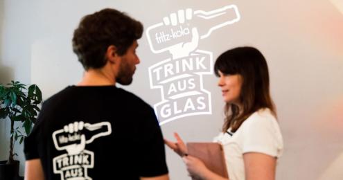 Fritz Cola Trink aus Glas Aktion