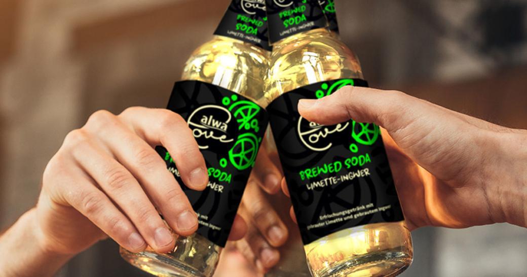 Alwa Brewed Soda Limette-Ingwer Limonade