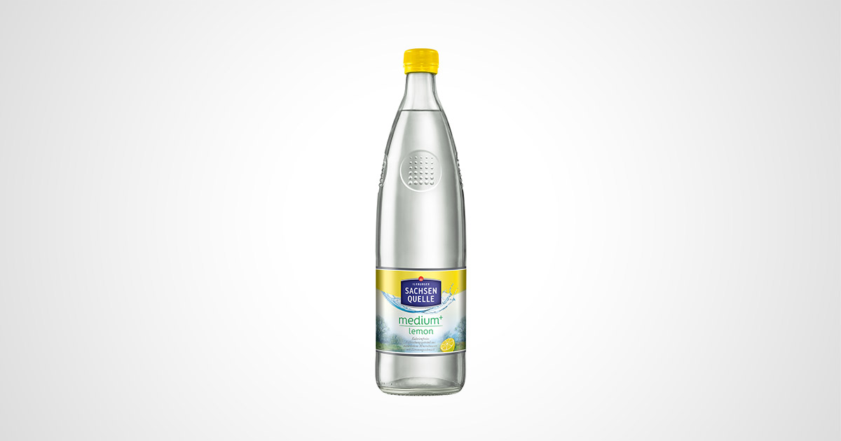 Sachsen Quelle Glasflasche