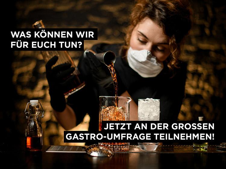 barkeeperin mit maske