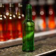 carlsberg glass bottle