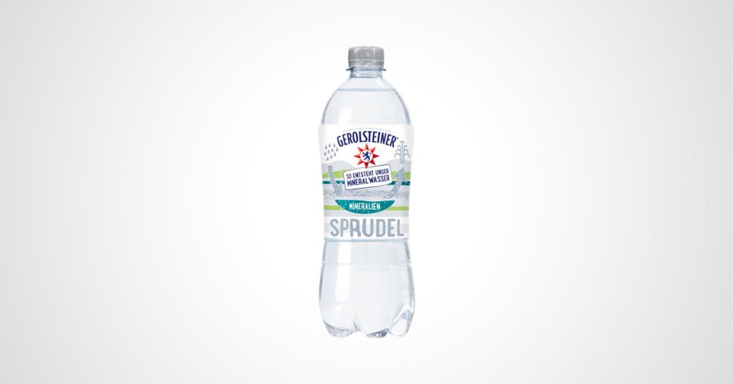 flasche gerolsteiner mineralwasser