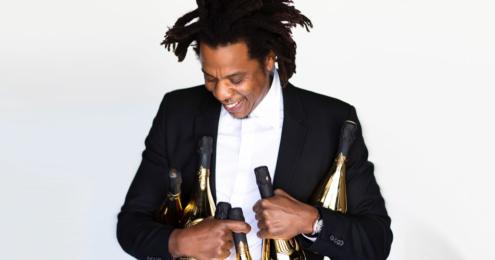 jay-z mit champagner flaschen