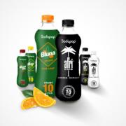 sodapop flaschen mit afri und bluna