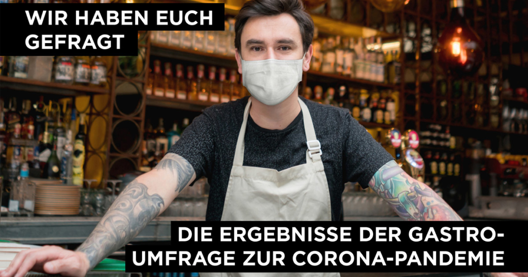 barkeeper mit mundschutz