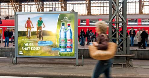 lichtenauer mineralwasser promotion plakat