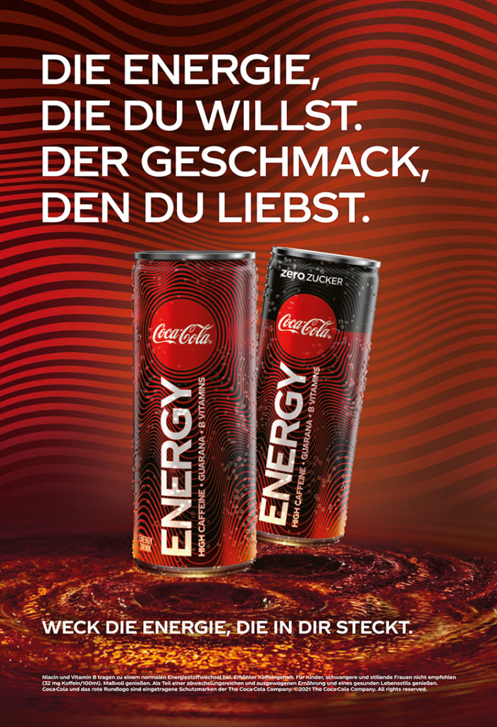 coca cola energy plakat