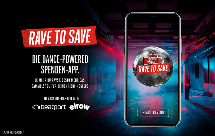 desperados rave to save app