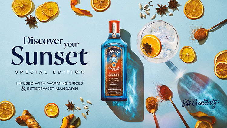 special edition bombay sapphire sunset