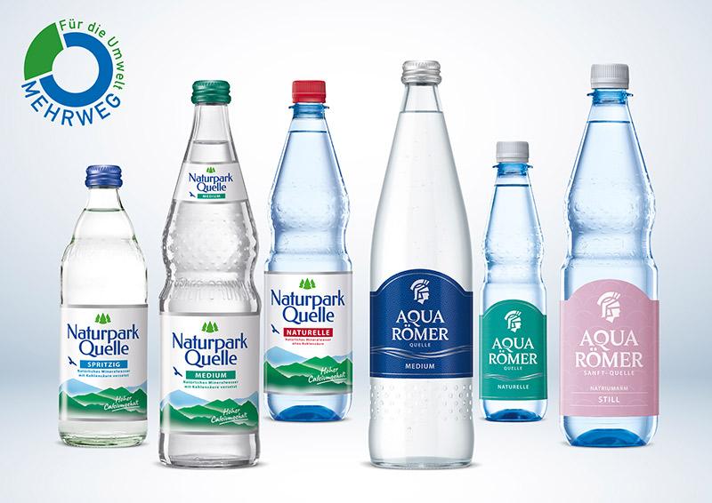 aquaRoemer mehrweg flaschen