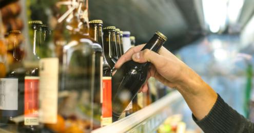 Bierflasche Regal