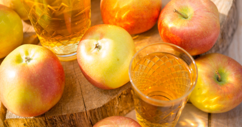 cider in traditional drinking glass