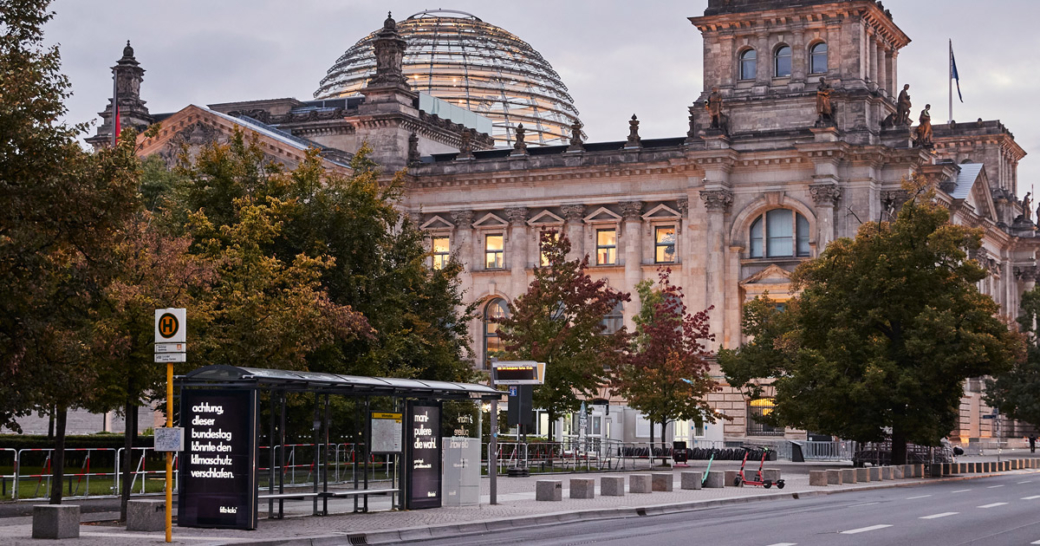 fritz-kola Plakat Bundestag