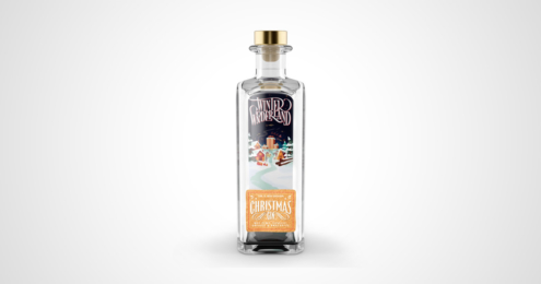 Winter Wonderland Christmas Gin Flasche